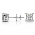 Princess Diamond Stud Earrings in White Gold (1 1/2 ctw) | Thumbnail 03