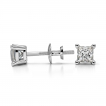 Princess Diamond Stud Earrings in White Gold (1/3 ctw) | Thumbnail 03