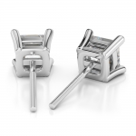 Princess Diamond Stud Earrings in White Gold (1/4 ctw) | Thumbnail 02