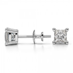 Princess Diamond Stud Earrings in White Gold (3/4 ctw) | Thumbnail 03