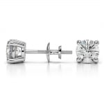 Round Diamond Stud Earrings in Platinum (1 1/2 ctw) | Thumbnail 03
