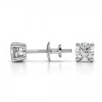 Round Diamond Stud Earrings in Platinum (1/2 ctw) | Thumbnail 03