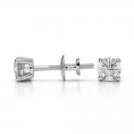 Round Diamond Stud Earrings in Platinum (1/3 ctw) | Thumbnail 03