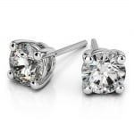 Round Diamond Stud Earrings in Platinum (1/4 ctw) | Thumbnail 01