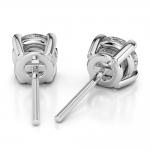 Round Diamond Stud Earrings in Platinum (1 ctw)   Thumbnail 02