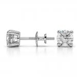 Round Diamond Stud Earrings in Platinum (1 ctw)   Thumbnail 03