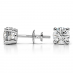 Round Diamond Stud Earrings in Platinum (2 ctw) | Thumbnail 03
