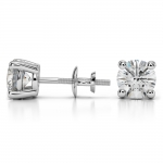Round Diamond Stud Earrings in Platinum (3 ctw) | Thumbnail 03