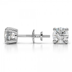 Round Diamond Stud Earrings in White Gold (1 1/2 ctw) | Thumbnail 03