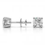 Round Diamond Stud Earrings in White Gold (1 1/2 ctw) | Thumbnail 03
