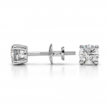 Round Diamond Stud Earrings in White Gold (1/2 ctw) | Thumbnail 03
