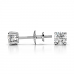 Round Diamond Stud Earrings in White Gold (1/3 ctw) | Thumbnail 03