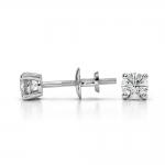 Round Diamond Stud Earrings in White Gold (1/4 ctw)   Thumbnail 03