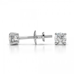 Round Diamond Stud Earrings in White Gold (1/4 ctw) | Thumbnail 03