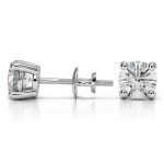 Round Diamond Stud Earrings in White Gold (2 ctw) | Thumbnail 03