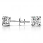 Round Diamond Stud Earrings in White Gold (2 ctw) | Thumbnail 03