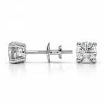 Round Diamond Stud Earrings in White Gold (3/4 ctw) | Thumbnail 03