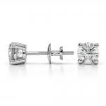 Round Diamond Stud Earrings in White Gold (3/4 ctw) | Thumbnail 03