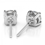 Round Diamond Stud Earrings in White Gold (3 ctw) | Thumbnail 02