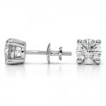Round Diamond Stud Earrings in White Gold (3 ctw) | Thumbnail 03