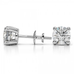 Round Diamond Stud Earrings in White Gold (4 ctw) | Thumbnail 03