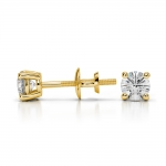 Round Diamond Stud Earrings in Yellow Gold (1/3 ctw) | Thumbnail 03