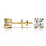 Round Diamond Stud Earrings in Yellow Gold (1 ctw)   Thumbnail 03