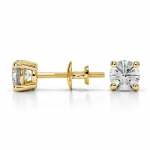 Round Diamond Stud Earrings in Yellow Gold (3/4 ctw) | Thumbnail 03