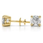 Round Diamond Stud Earrings in Yellow Gold (4 ctw) | Thumbnail 03