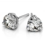 Three Prong Diamond Stud Earrings in Platinum (1/2 ctw) | Thumbnail 01