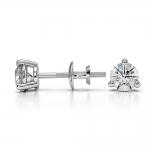 Three Prong Diamond Stud Earrings in Platinum (1/2 ctw)   Thumbnail 03