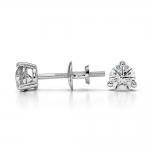 Three Prong Diamond Stud Earrings in White Gold (1/3 ctw) | Thumbnail 03