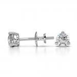 Three Prong Diamond Stud Earrings in White Gold (1/3 ctw) | Thumbnail 03