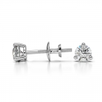 Three Prong Diamond Stud Earrings in White Gold (1/4 ctw) | Thumbnail 03