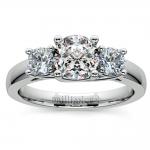 Trellis Three Diamond Engagement Ring in Platinum (1/2 ctw) | Thumbnail 01