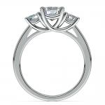 Trellis Three Diamond Engagement Ring in Platinum (1/2 ctw) | Thumbnail 02