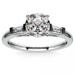 Baguette Diamond Engagement Ring in Platinum (1/3 ctw) | Thumbnail 01