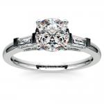 Baguette Diamond Engagement Ring in Platinum (1/3 ctw) | Thumbnail 01