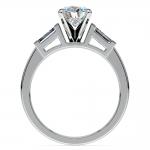 Baguette Diamond Engagement Ring in Platinum (1/3 ctw) | Thumbnail 02