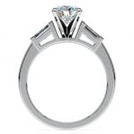 Baguette Diamond Engagement Ring in Platinum (1/3 ctw) | Thumbnail 02