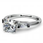 Baguette Diamond Engagement Ring in Platinum (1/3 ctw) | Thumbnail 04