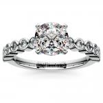 Bezel Diamond Engagement Ring in Palladium (1/4 ctw) | Thumbnail 01