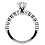 Bezel Diamond Engagement Ring in Palladium (1/4 ctw) | Thumbnail 02
