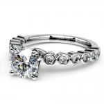 Bezel Diamond Engagement Ring in Palladium (1/4 ctw) | Thumbnail 04