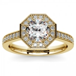 Halo Diamond Engagement Ring in Yellow Gold (3/8 ctw) | Thumbnail 01