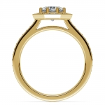 Halo Diamond Engagement Ring in Yellow Gold (3/8 ctw) | Thumbnail 02