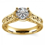 Antique Solitaire Engagement Ring in Yellow Gold | Thumbnail 01