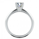 Knife Edge Solitaire Engagement Ring in Palladium | Thumbnail 02