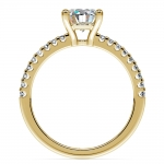 Scallop Diamond Engagement Ring in Yellow Gold (1/5 ctw) | Thumbnail 02