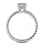 Twisted Rope Solitaire Engagement Ring in White Gold | Thumbnail 02